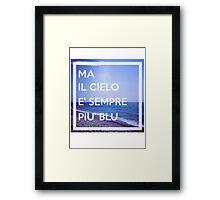 Cielo Blu Framed Print