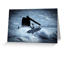 Surfing Cottesloe beach Greeting Card