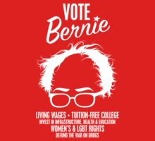 Vote Bernie Hair Shirt with Speaking Points One Piece - Short Sleeve