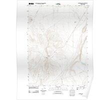 USGS Topo Map Oregon Coleman Hills 20110816 TM Poster