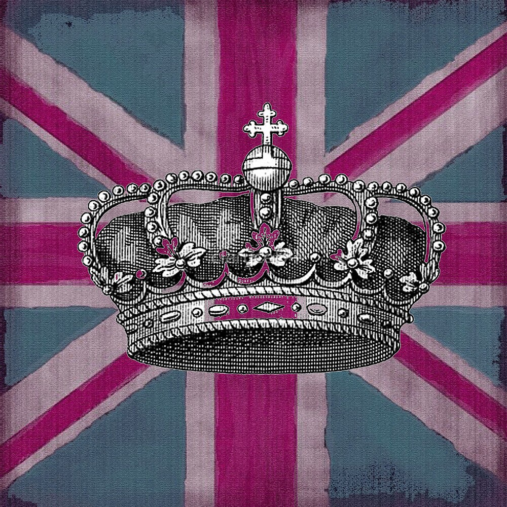 Union Jack and Crown by claryce84