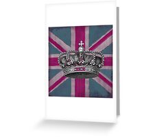 Union Jack and Crown Greeting Card