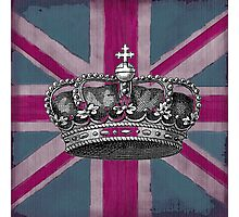 Union Jack and Crown Photographic Print