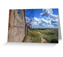 Barbed Wire - Pontin's Holiday Camp, Lytham Greeting Card