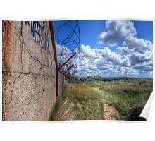 Barbed Wire - Pontin's Holiday Camp, Lytham Poster