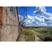 Barbed Wire - Pontin's Holiday Camp, Lytham Photographic Print