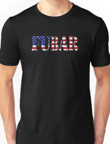 FUBAR - USA flag, white outline T-Shirt