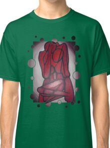 Abstract Lovers In Red Classic T-Shirt
