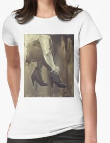 Stockings And Heels Womens Fitted T-Shirt