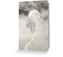 A Walk In The Moonlight Greeting Card