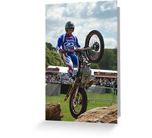 FOS trials bike Greeting Card