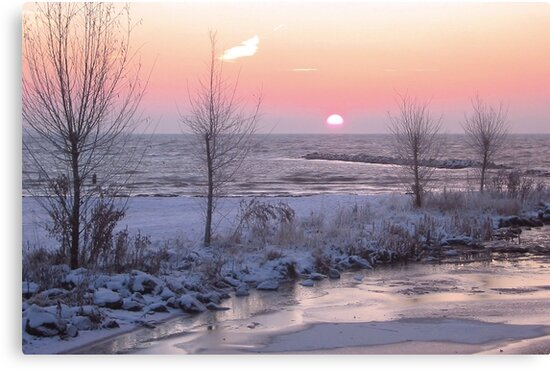Winter Morning Sunrise by Jo Nijenhuis