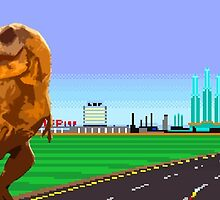 Road Blasters T-Rex by napalmnacho