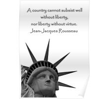 Liberty With Virtue Poster