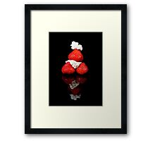 Strawberry & Cream pyramid Framed Print
