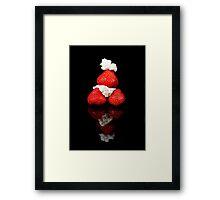 Strawberry & Cream pyramid Framed Print