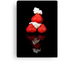 Strawberry & Cream pyramid Canvas Print