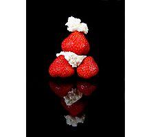 Strawberry & Cream pyramid Photographic Print