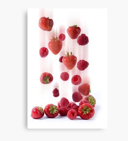 Raining Fruit Canvas Print