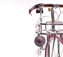 Silver Porteur Bicycle by mudd-photo