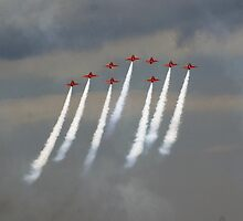 'Festival of speed' Red Arrows by Charlotte Jarvis