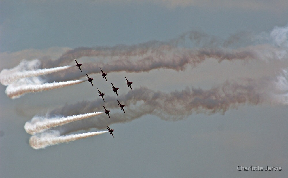 'Festival of speed' Red Arrows 2 by Charlotte Jarvis