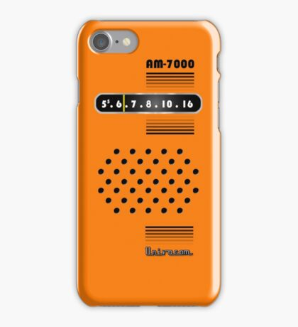 Transistor Radio - 70's Orange iPhone Case/Skin