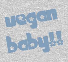 Vegan Baby in Blue One Piece - Short Sleeve