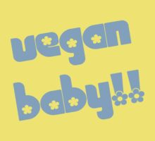 Vegan Baby in Blue Kids Clothes