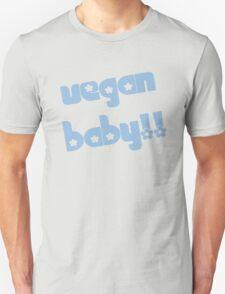 Vegan Baby in Blue Unisex T-Shirt