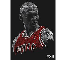 "Michael Jordan ""Two-Tone"" Typographic  Photographic Print"