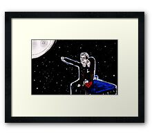 Anywhere in time and space Framed Print