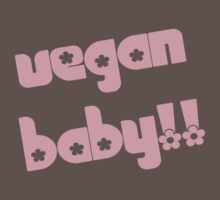 Vegan Baby in Pink by veganese