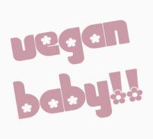 Vegan Baby in Pink Kids Tee