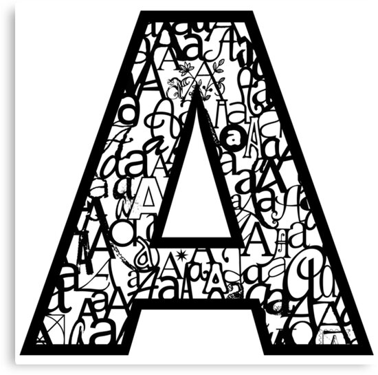 Letter A, white background by Julie Hartman