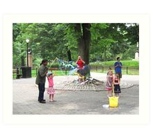Making Bubbles in Central Park,NYC Art Print