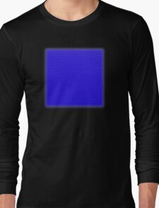 Building Block Brick Texture - Blue Long Sleeve T-Shirt
