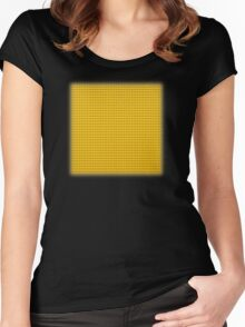 Building Block Brick Texture - Yellow Women's Fitted Scoop T-Shirt