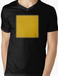 Building Block Brick Texture - Yellow Mens V-Neck T-Shirt