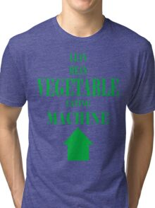 Vegetable Eating Machine Tri-blend T-Shirt