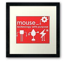Mouse Tshirt - Unisex Framed Print