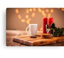 christmas food and drink Canvas Print