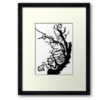 Gnarly Tree Framed Print
