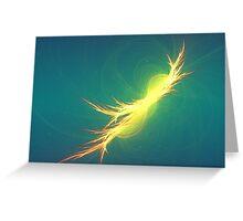 Fractal Phoenix Rising Greeting Card