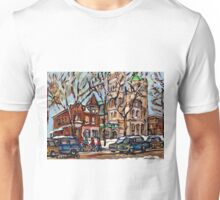 POINTE ST CHARLES SCENES ST.GABRIEL'S RECTORY AND ST.CHARLES CHURCH Unisex T-Shirt