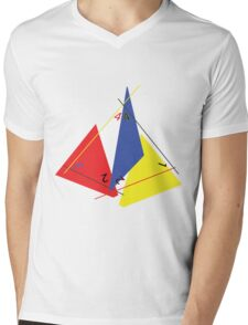 Abstract 4-Sided Die Mens V-Neck T-Shirt