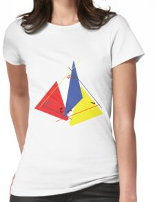 Abstract 4-Sided Die Womens Fitted T-Shirt