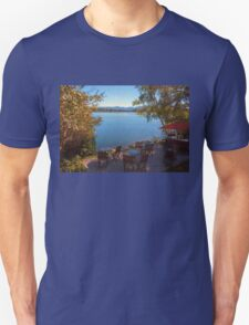 Patio on the Water Front - Mirror Lake Unisex T-Shirt