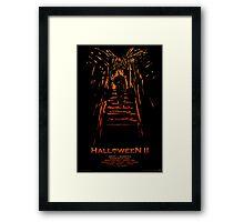 Halloween II Stencil Framed Print