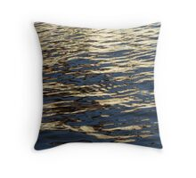 Water Gold Throw Pillow